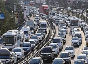 Trafikte 19 milyon 225 bin araç var