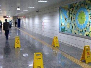 Ankara Metrosu su sızdırıyor