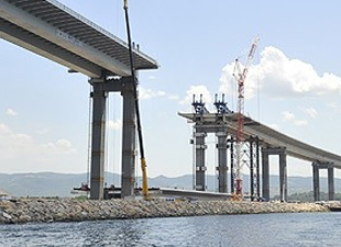 Körfez Geçiş Köprüsü'nde en ağır parça bugün yerleştirilecek