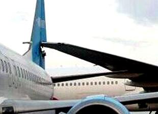 Nijerya'da yolcu uçakları yerde çarpıştı