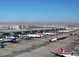 Atatürk Havalimanı'nda rekor geldi
