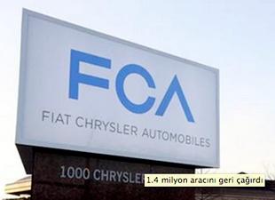 Fiat Chrysler, 1.4 milyon aracını geri çağırdı