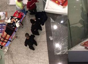 Amerikan yolcu Atatürk Havalimanı'nda 12 metre yüksekten düştü