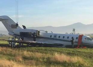 Meksika'da uçak pistten çıktı