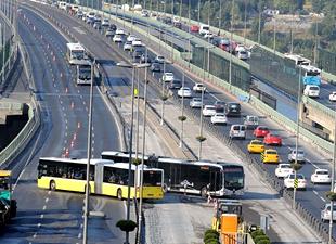 Haliç Köprüsü'ndeki çalışma trafiği vurdu