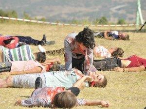 Manisa'da uçak kazası tatbikatı