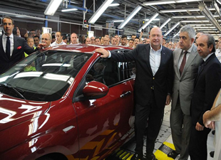 """Tofaş'ın ürettiği """"Fiat Egea"""" banttan indirildi"""