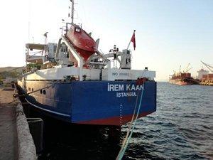 Aliağa'da gemide 7 bin 55 litre kaçak motorin ele geçirildi