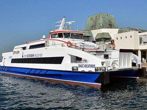 İzmir'in yeni gemisi Cengiz Kocatoros Körfez ile buluştu