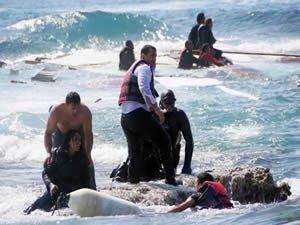 Bodrum'da kaçak göçmen taşıyan bot battı: 9 ölü