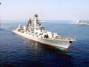 Rusya, hava savunma sistemli kruvazörü Lazkiye'ye gönderdi