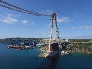 Yavuz Sultan Selim Köprüsü'nde halatların uzunluğu şaşırttı