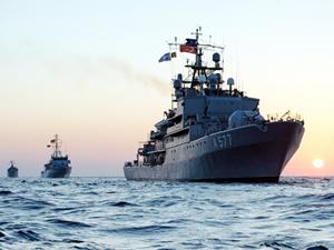 Akdeniz'de 5 farklı ülkeden 57 savaş gemisi bulunuyor