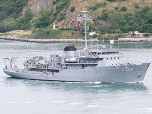 TCG CESME Ege Denizi'ne açıldı, Yunan donanması alarma geçti!