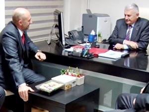GİSBİR Yönetim Kurulu, Binali Yıldırım'ı makamında ziyaret etti