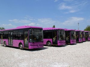 Van Büyükşehir Belediyesi 5 otobüs aldı
