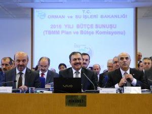 Orman ve Su İşleri Bakanlığı'nın  2016 yılı bütçesi görüşüldü