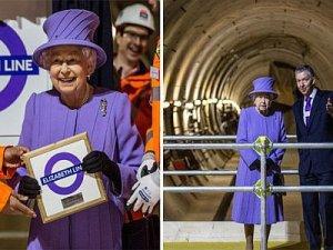 Kraliçe 2. Elizabeth'in Adı Londra'daki Yeni Tren Hattına Verildi