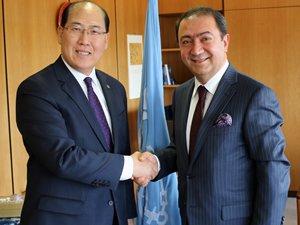 Suat Hayri Aka, IMO Genel Sekreteri Kitack Lim'i makamında ziyaret etti