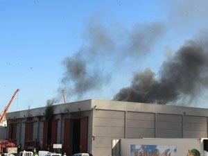 Samsun Limanı'nda korkutan yangın