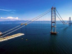 İzmit Körfez Geçişi Asma Köprüsü havadan görüntülendi
