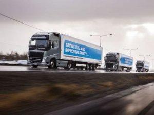 Sürücüsüz kamyon filosu Avrupa'yı dolaştı
