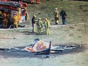 Avustralya'da küçük uçak düştü!