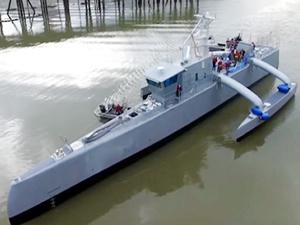 ABD'de inşa edilen Sea Hunter adlı insansız geminin testleri başladı