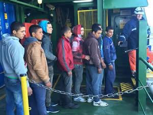 Arkas Denizcilik'e ait M/V Vento Di Bora adlı gemi 314 kaçak göçmeni kurtardı