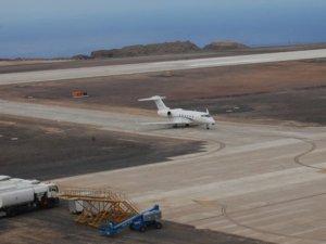 Helena Havalimanı'na ilk uçak indi