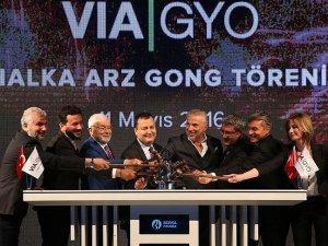Borsa'da gong VIA GYO için çaldı