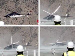 Artvin'de helikopter yan yattı; 3 yaralı