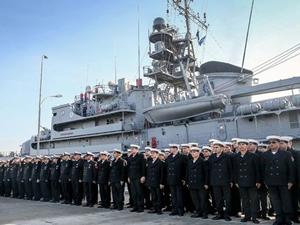 TCG Sokullu Mehmet Paşa gemisi Köstence'de