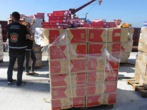 Alize isimli gemide 3 milyon 300 bin adet kaçak sigara yakalandı