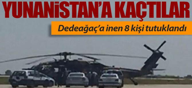 Helikopterle Yunanistan'a kaçtılar