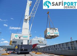 Safiport Derince'de yeni ekipmanlar operasyonları hızlandırdı