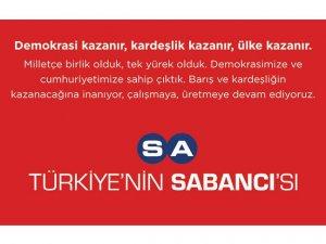 Sabancı Holding Türkiye'ye güvenini dünyaya duyuruyor