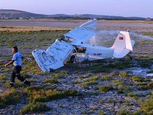 Çorlu'da eğitim uçağı düştü