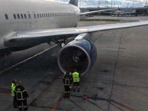 Kalkışta motoru yanan Delta uçağını kule uyardı
