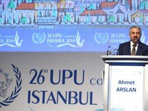 Bakan Arslan: 'Posta sektörü kıtalar arası e-ticaret olanağı sunar hale geldi'