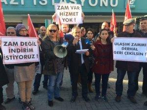 Bursa'da ulaşım zammına tepkiler devam ediyor