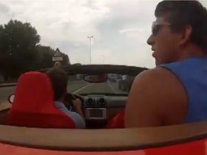 Ferrari'yi test ederken kaza yaptı